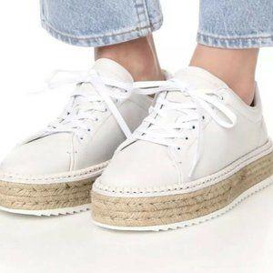 Rag and Bone Kent Espadrille Sneaker Sz 40 White